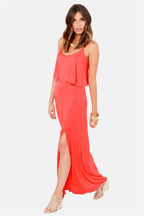 Lulus Exclusive Offer Get 15 On Fab Clothes by Casual Coral Dress Maxi Dress Sleeveless Dress
