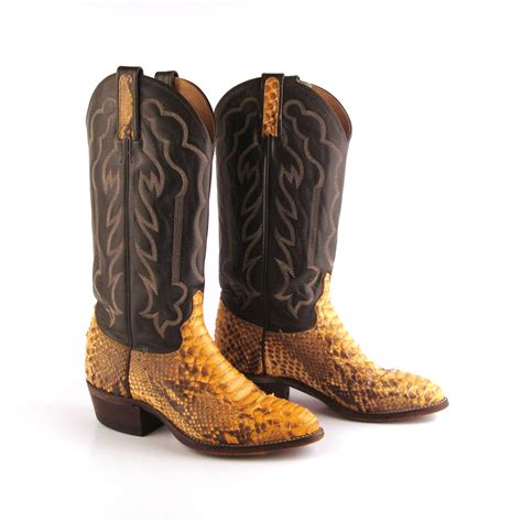 snakeskin cowboy boots for snakeskin cowboy boots vintage 1980s s by