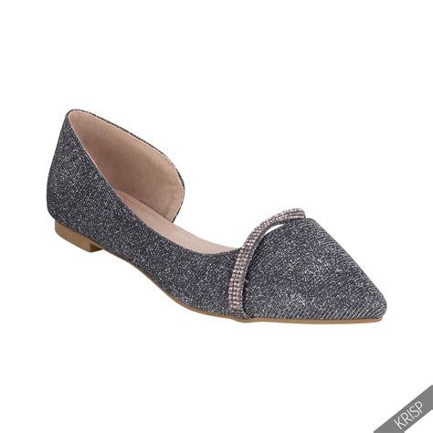 womens wedding shoes flats vintage pointed glitter bridal ballerina