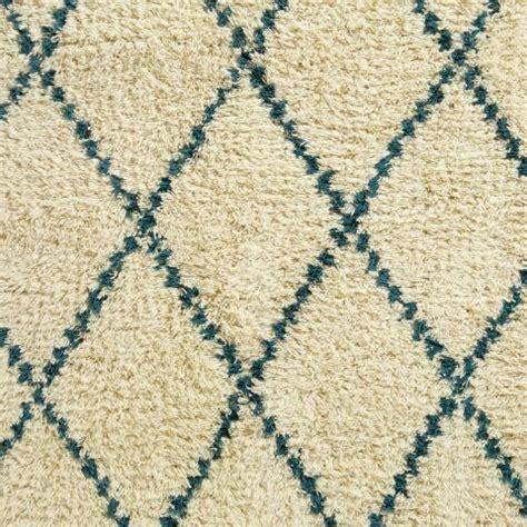 world market shag rug 5 x 8 teal ivory moroccan style shag rug world market