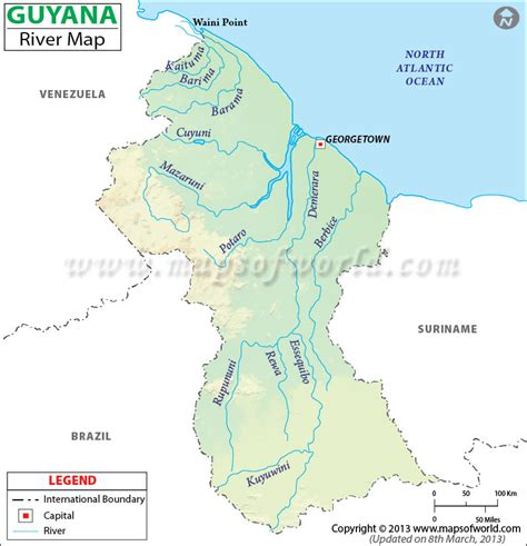 guyana river map