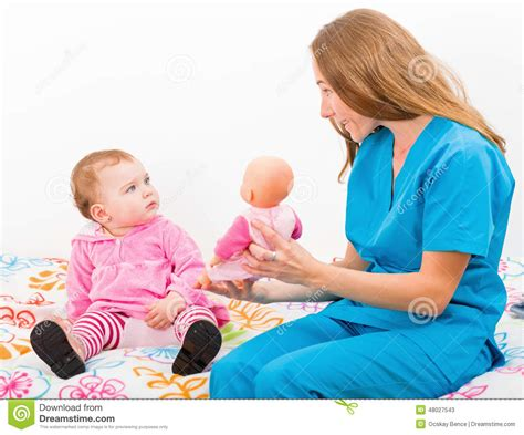 Baby Sitter by Adorable Baby And Stock Photo Image 48027543