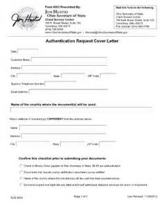 California Apostille Cover Letter Sle by Cover Letter For Apostille California Fill