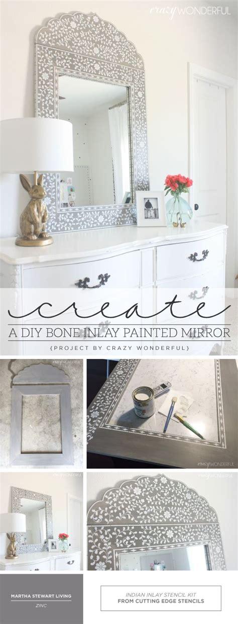 create a diy bone inlay painted mirror corte laser