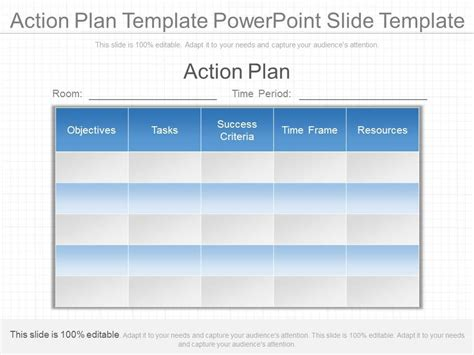 Innovative Action Plan Template Powerpoint Slide Template Powerpoint Planning Template
