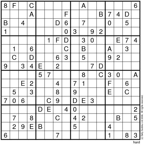 16x16 sudoku printable 4 best images of 16 sudoku printable free printable