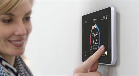 Lennox I Comfort by The Lennox Intuitive Icomfort S30 Smart Thermostat On