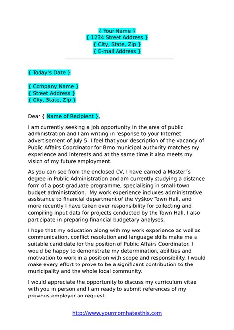 cover letter formats  examples
