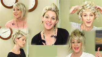 different fixing hairstyles 5 ways to style short hair youtube hairstyles youtube