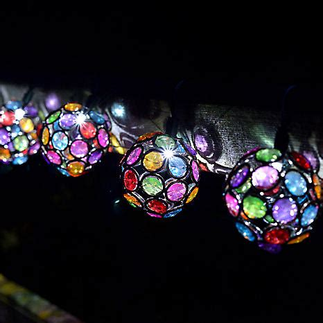 solar coloured gem globe string lights look again