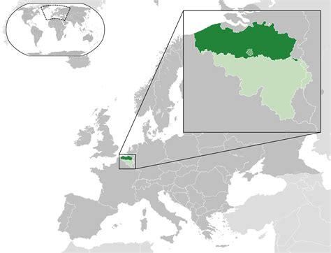 a of flanders map of flanders belgium