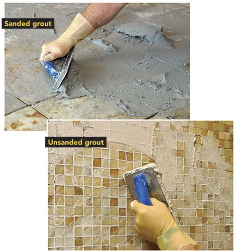 sanded vs unsanded grout mosaic crafts
