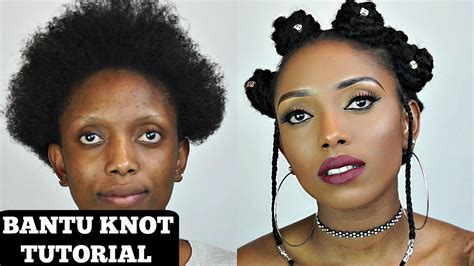 How To Bantu Knot Tutorial With Extension On Short Natural