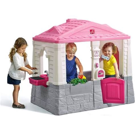 Step 2 Play Cottage by Step2 Neat And Tidy Cottage Pink Walmart