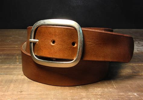 Handmade Belts Usa - brown leather belt b100 handmade in usa