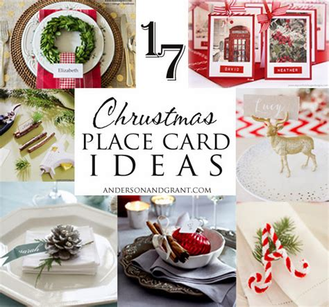 17 ideas for your christmas place cards anderson grant
