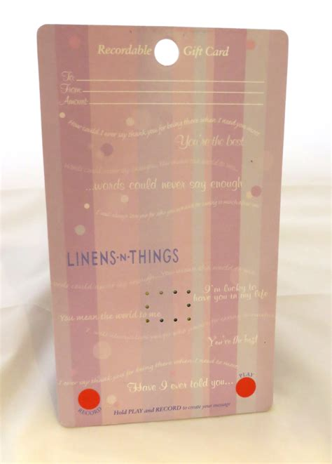 Linens N Things Gift Card - linens n things recordable gift card holder voice express
