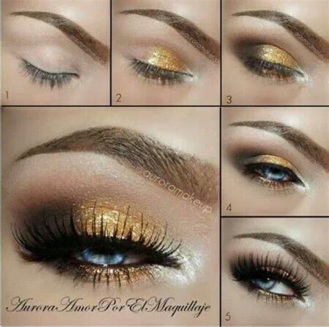 eyeshadow tutorial with gold black and gold eyeshadow makeup pinterest goddesses