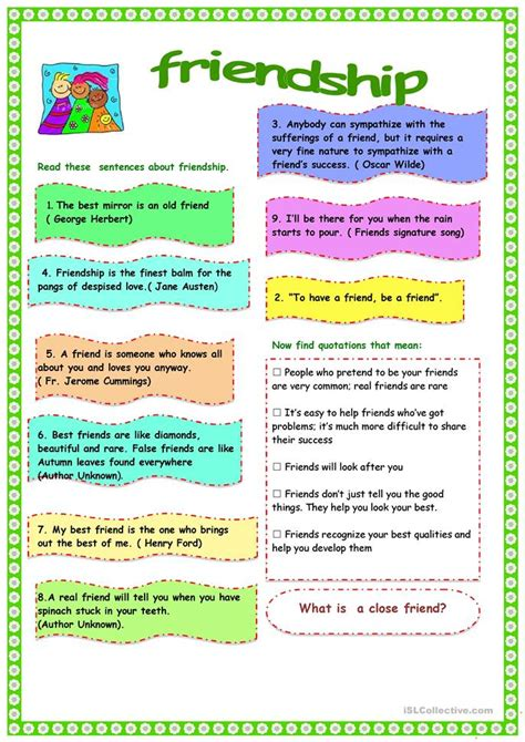 Friendship Worksheets by Friendship Worksheet Free Esl Printable Worksheets Made