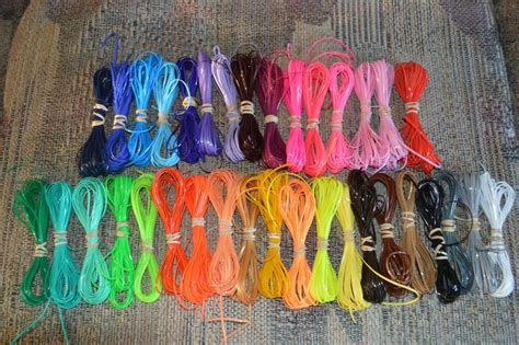 rainbow solid colors lot rexlace plastic lace boondoggle gimp lanyard lacing ebay