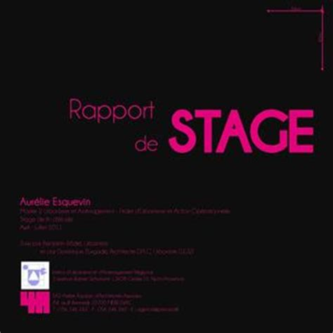exemple rapport de stage architecture document