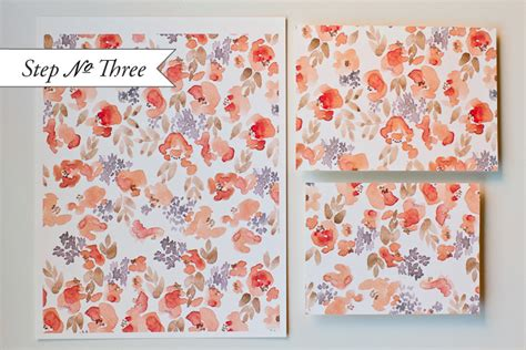 Watercolor Pattern Tutorial | diy watercolor floral pattern wedding invitations