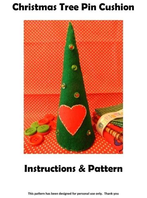 christmas tree cushion pattern christmas tree pin cushion 183 how to make a christmas tree