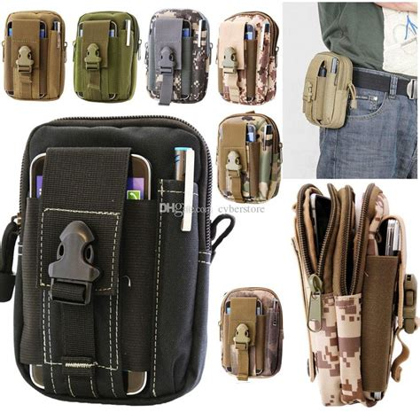 New Waist Bag Jeep 835 Leather Quality universal outdoor tactical holster waist belt bag sport running mobile phone cover