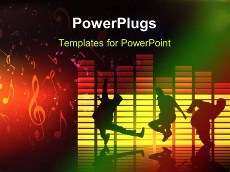 templates powerpoint dance powerpoint template thee people dancing and jumping on a