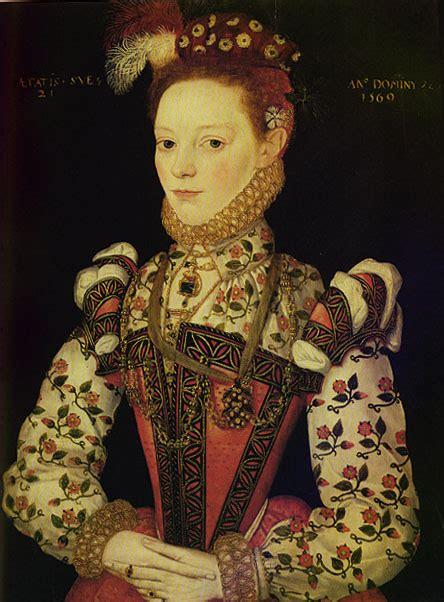 elizebethan fasion unknown girl 1569