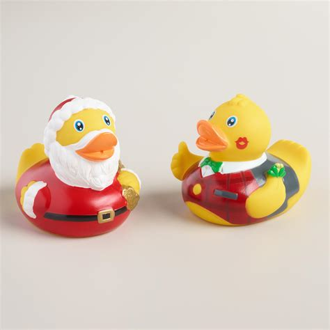 rubber duck bathroom set holiday rubber duck bath toy set of 2 world market
