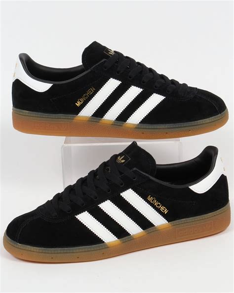 Adidas Rom Black Original adidas munchen trainers black white shoes originals mens