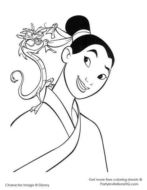 mulan coloring pages to color for adults and children