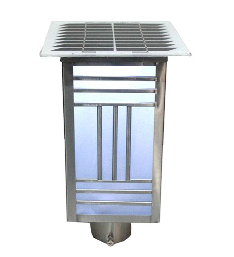 Solar Bollard Lights Outdoor Sui Solar Bollard Lawn Square Light By Sui