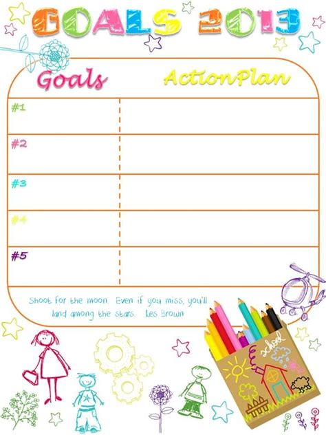 17 Best Ideas About Goal Charts On Pinterest The Goal Goals Printable And Goal Setting Template Goal Chart Ideas