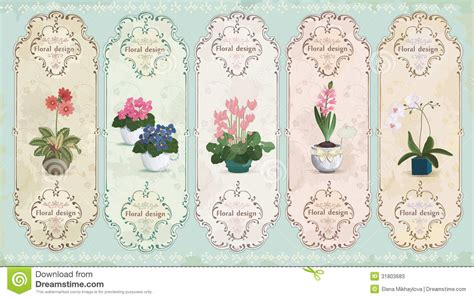 labels flower garden picture flowers free flower images garden vintage floral labels stock photos image 31803683