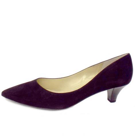 heel shoes kaiser donjo black suede kitten heel shoes