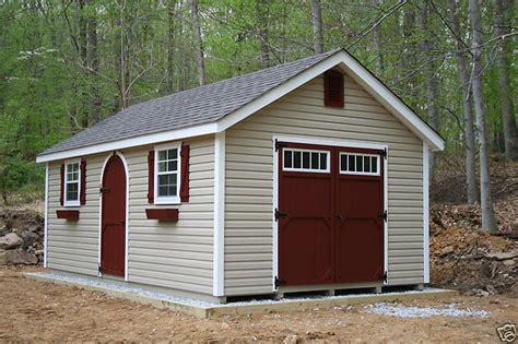 amish built   frame garden vinyl storage shed ebay