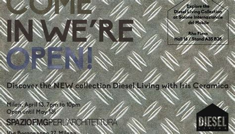 Diesel Living and Iris Ceramica at Design Week Milano
