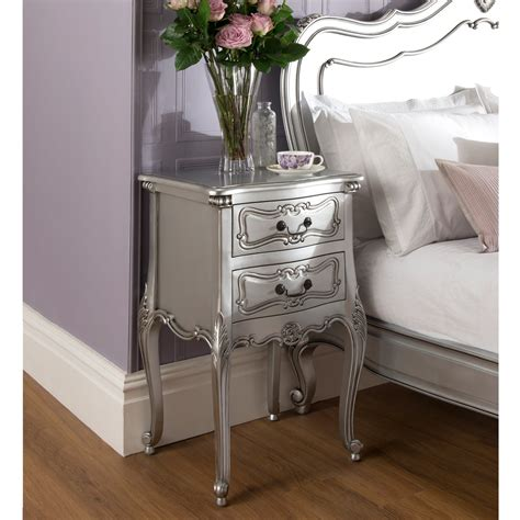 french silver bedroom furniture marvelous la rochelle antique french bedside furniture