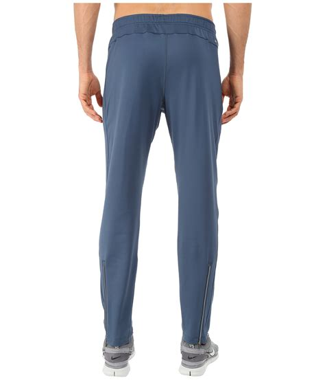 Nike Dri Fit Pant Blue nike dri fit thermal in blue for lyst