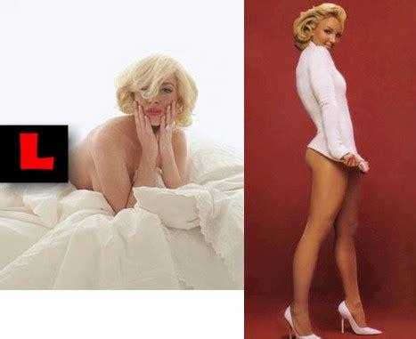 Lindsay Lohan Re Creates Marilyn Monroes Last Sitting For New York Magazine by Mileycyrusnakedgfxabog S