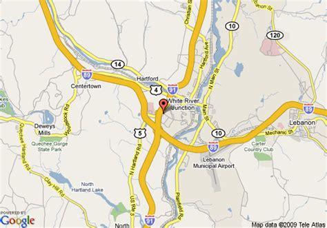 map of comfort inn white river junction white river junction
