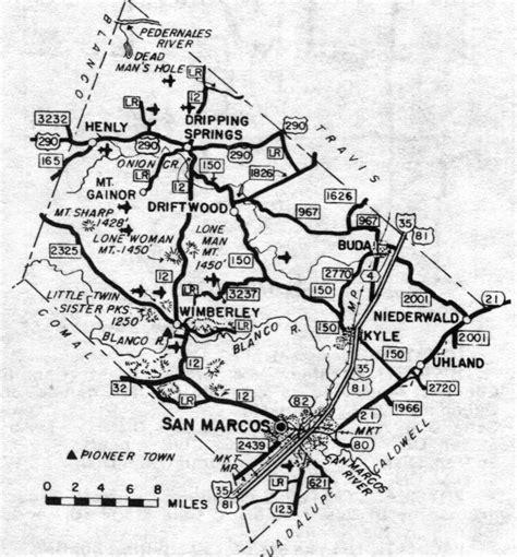hays county map texas wimberley texast