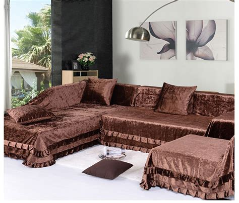 can you put a slipcover on a leather sofa making sectional slipcovers homesfeed