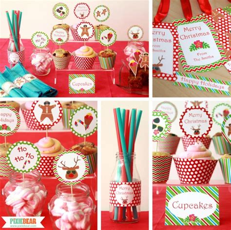 christmas in july party ideas pixiebear party printables