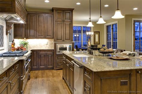 Dark Wood Kitchen Island by Pictures Of Kitchens Traditional Dark Wood Walnut
