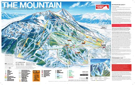 skiing usa map crested butte ski trail map free