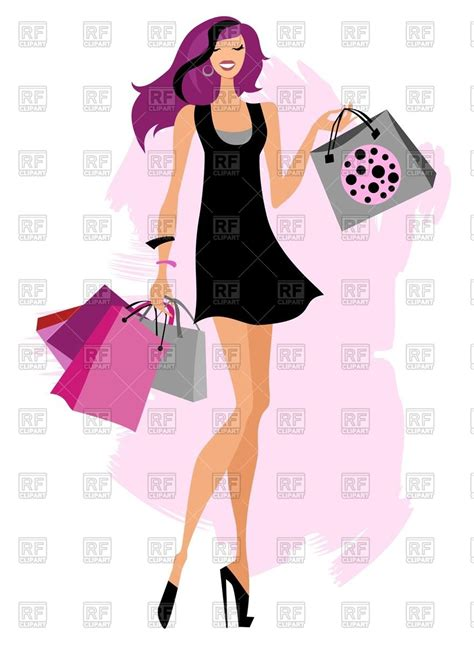 Bag Fashion Atr fashion with shopping bags royalty free vector clip