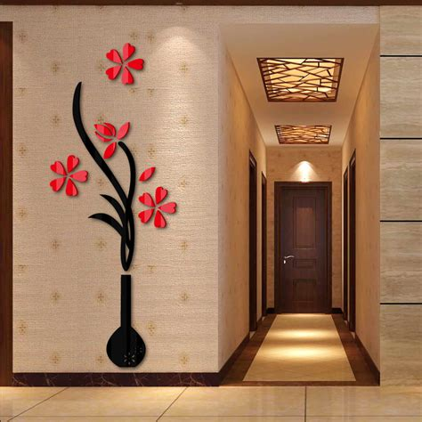 2016 new style large modern art decoration diy 3d wall 2016 new wall stickers home decor 3d diy acrylic sticker